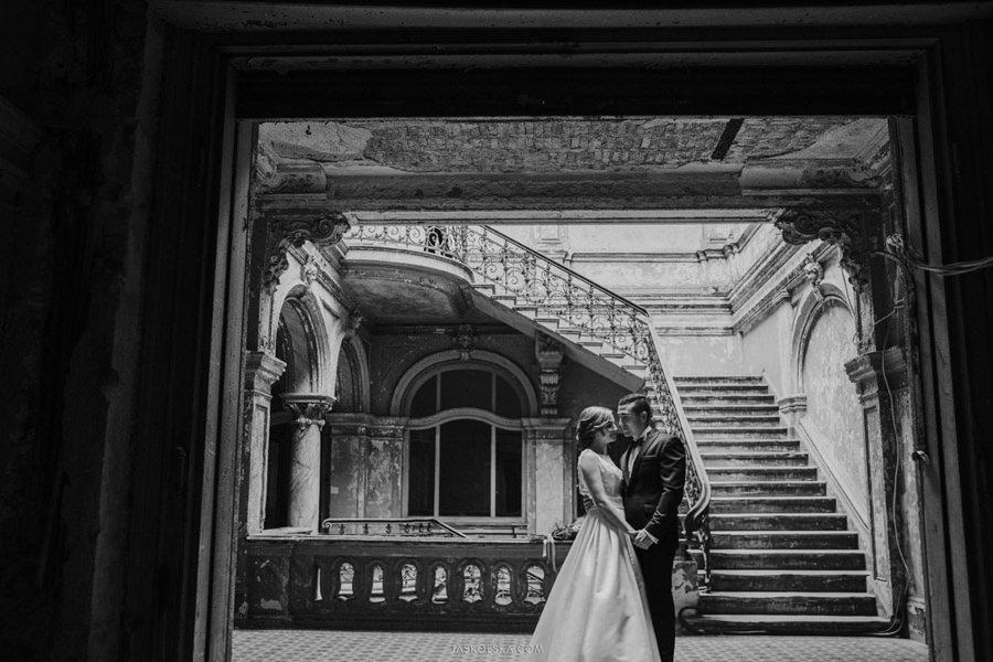 plener ślubny pałac krowiarki