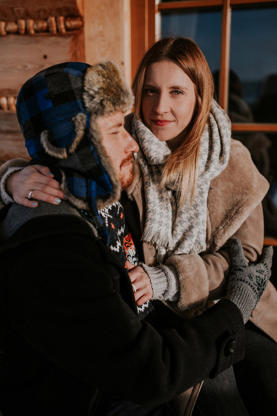 winter couple portrait