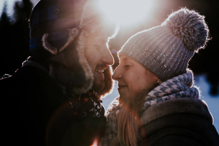 couple winter portrait
