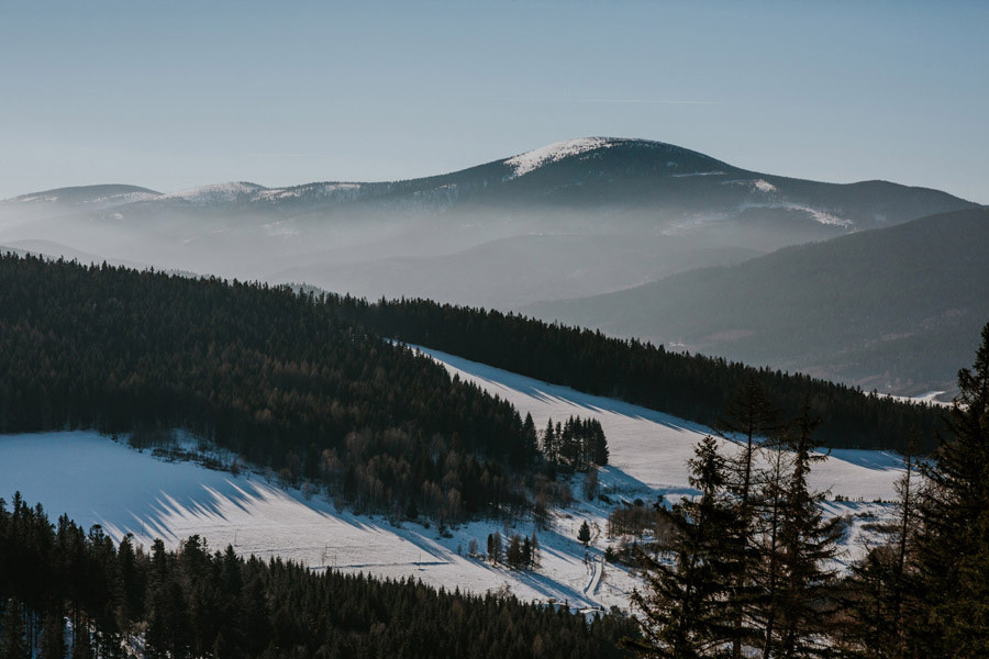 polish mountains winter landscape