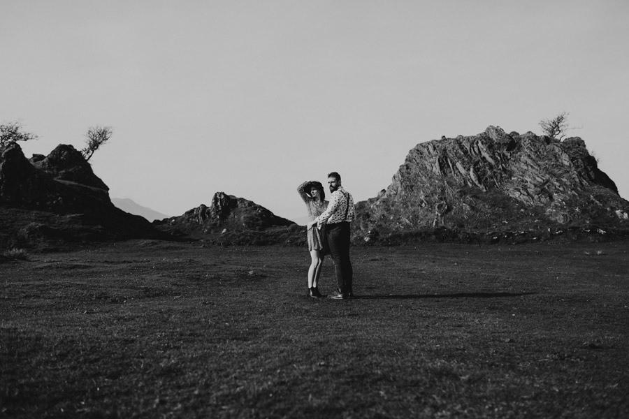 sesja przy ruinach zamku w Szkocji
