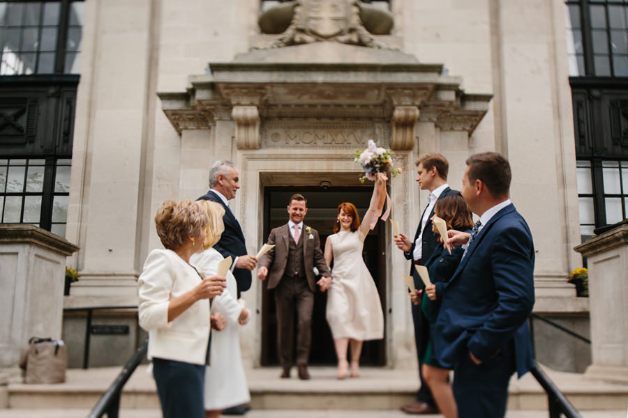 London Wedding Photographer confetti toss