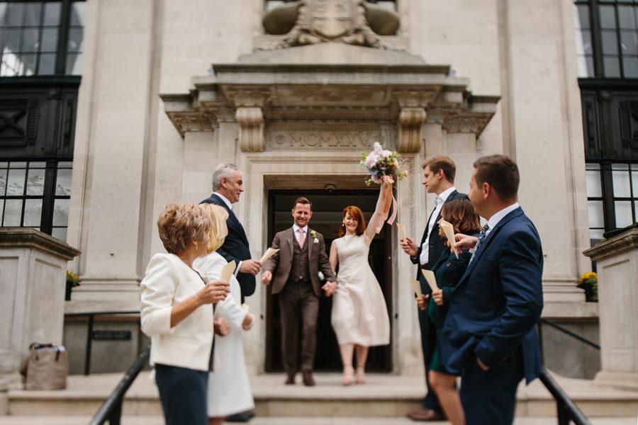 London Wedding Photographer confetti toss